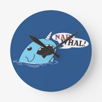 The Loud Narwhal Round Clock