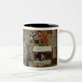 The Louvre and College des Quatre-Nations Two-Tone Coffee Mug