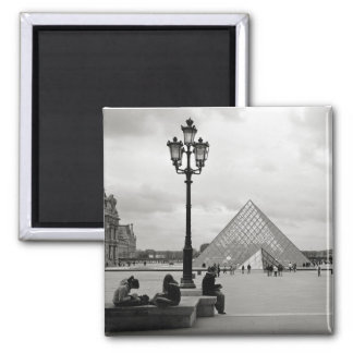 The Louvre Glass Pyramid Magnet