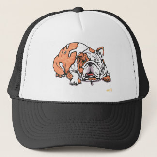 the lovable bulldog trucker hat