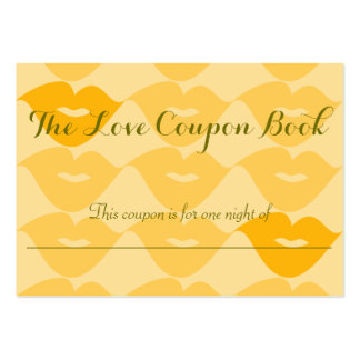 The Love Coupon Book Large Business Cards (Pack Of 100)