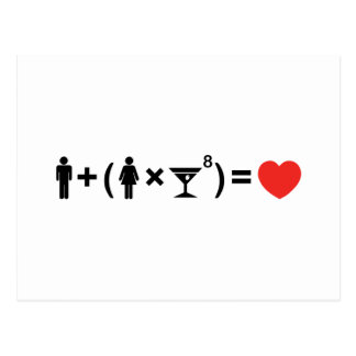 The Love Equation for Women Postcard