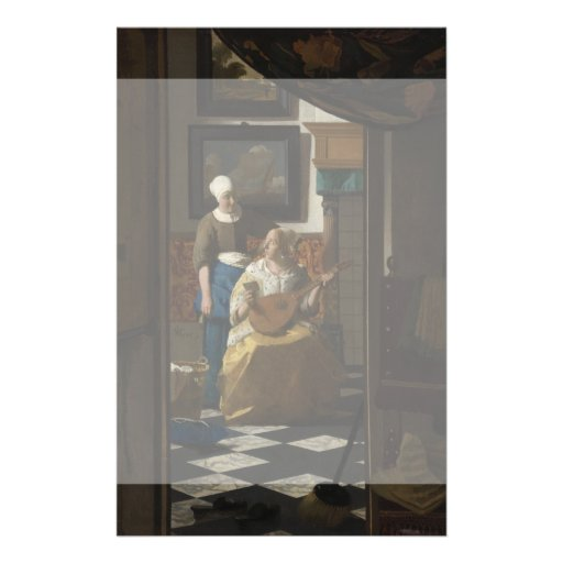 The Love Letter by Johannes Vermeer Custom Flyer