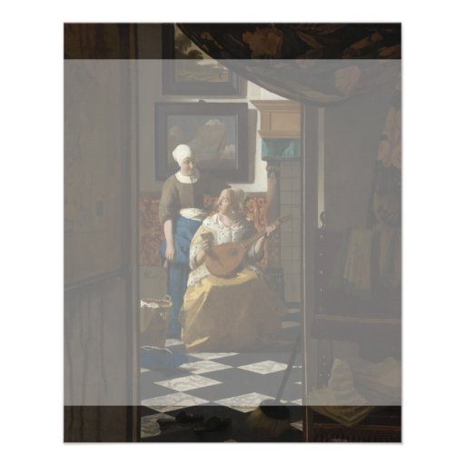 The Love Letter by Johannes Vermeer Flyers