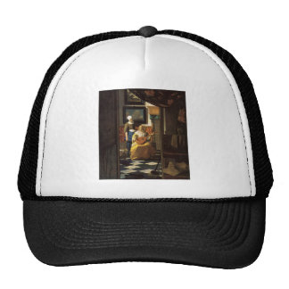 The love letter by Johannes Vermeer Hat