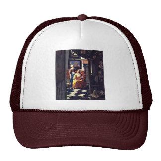 The Love Letter,  By Johannes Vermeer Mesh Hat