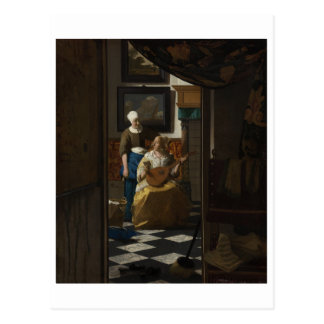 The Love Letter by Johannes Vermeer Post Cards