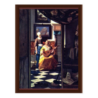 The Love Letter,  By Johannes Vermeer Postcard