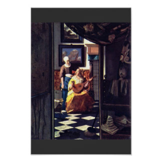 The Love Letter,  By Johannes Vermeer Posters