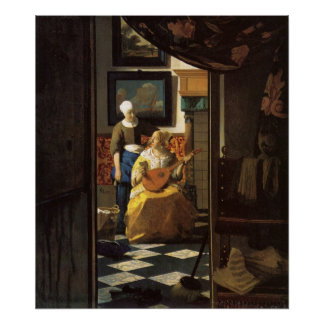 The love letter by Johannes Vermeer Poster