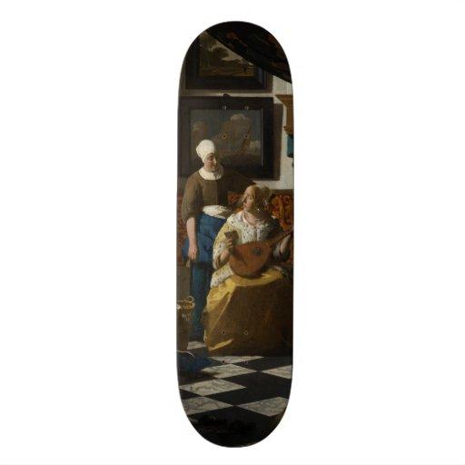The Love Letter by Johannes Vermeer Skate Board Decks