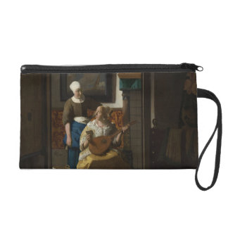 The Love Letter by Johannes Vermeer Wristlet Purse