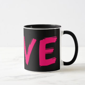 The Love Mug 11oz Black Pink By Zazz_it