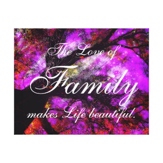 The Love of Family wrapped canvas Canvas Print
