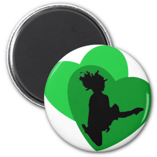 The Love of Irish Dance 6 Cm Round Magnet