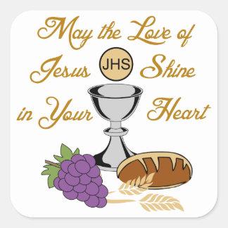 THE LOVE OF JESUS SQUARE STICKER
