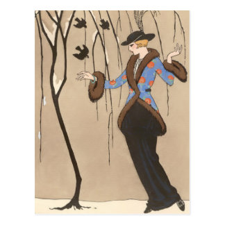 The Lovely Sparrow by George Barbier Post Cards
