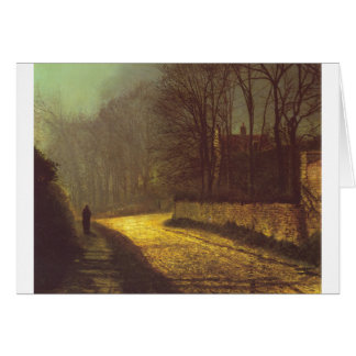The Lovers by John Atkinson Grimshaw Greeting Card