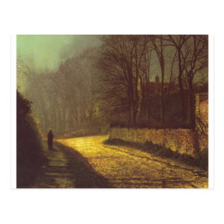 The Lovers by John Atkinson Grimshaw Postcard
