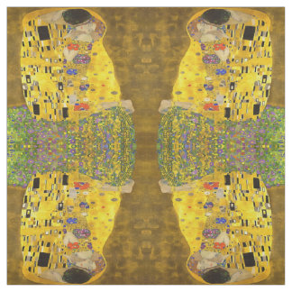 The Lovers Kiss After Klimt Fabric