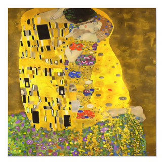 The Lovers Kiss After Klimt Magnetic Invitations