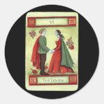 """The Lovers"" tarot card Round Sticker"