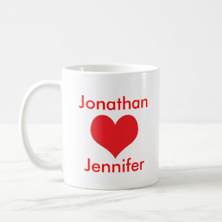 The lovers valentine s gift personalised name mug