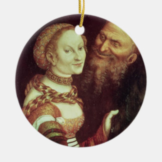 The Lovesick Old Man, 1553 (oil on panel) Christmas Ornament