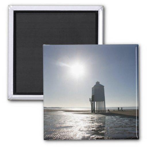 The Low Lighthouse, Burnham on Sea, Somerset, UK Magnet