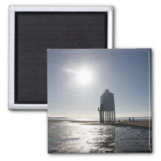 The Low Lighthouse, Burnham on Sea, Somerset, UK Square Magnet