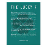 The Lucky 7 Manifesto - 11x14 poster