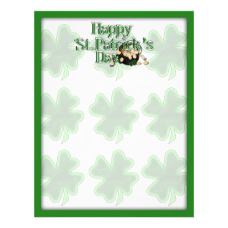 The Lucky Clovers & Pot of Gold Personalized Flyer