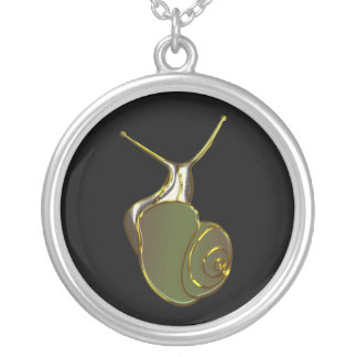 The Lucky Snail Green eXi Round Pendant Necklace