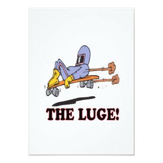 The Luge 13 Cm X 18 Cm Invitation Card