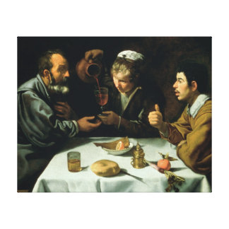 The Lunch, 1620 Canvas Print