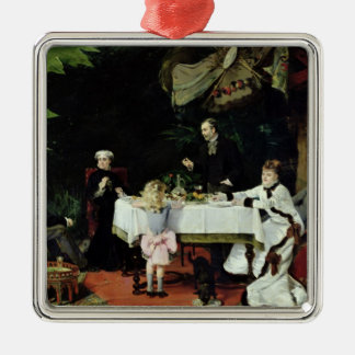 The Luncheon in the Conservatory, 1877 Christmas Ornament