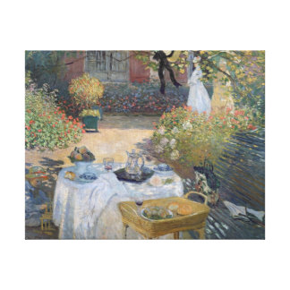 The Luncheon: Monet's garden at Argenteuil Gallery Wrapped Canvas