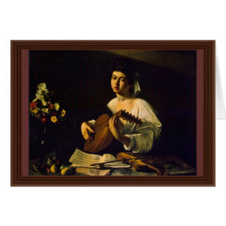 The Lute Player By Michelangelo Merisi Da Caravagg Greeting Card