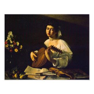 "The Lute Player By Michelangelo Merisi Da Caravagg 4.25"" X 5.5"" Invitation Card"