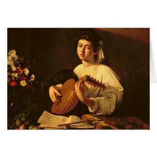 The Lute Player, c.1595 Greeting Card