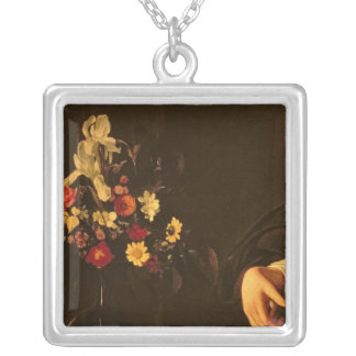 The Lute Player, c.1595 Silver Plated Necklace