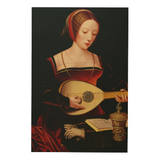 The Lute Player Wood Canvases