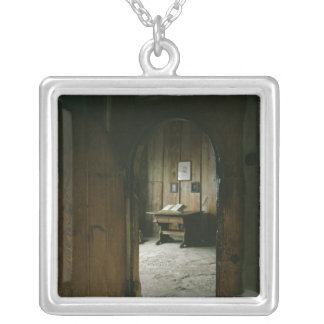 The Luther Room in the Wartburg Castle Silver Plated Necklace