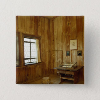The Luther Room in Wartburg Castle 15 Cm Square Badge