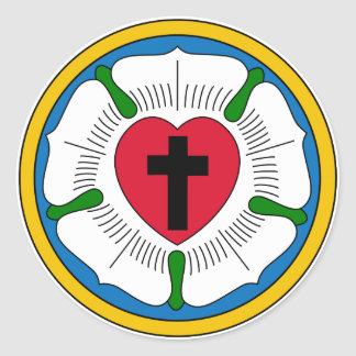 The Luther Rose Lutheranism Martin Luther Round Sticker