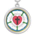 The Luther Rose Lutheranism Martin Luther Silver Plated Necklace