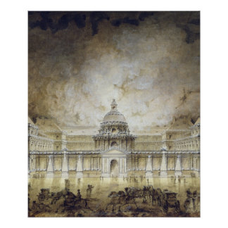 The Luxembourg Palace Illuminated Poster