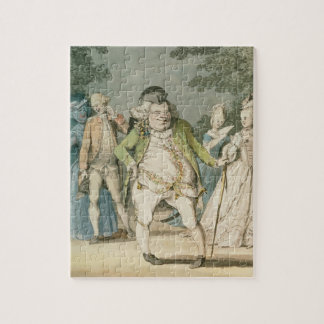 The Macaroni, 1774 (w/c on paper) Jigsaw Puzzle