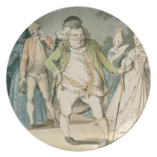 The Macaroni, 1774 (w/c on paper) Plate