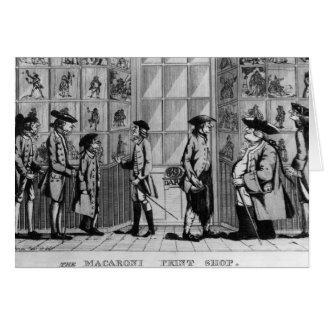 The Macaroni Print Shop, pub. by N. Darley Card